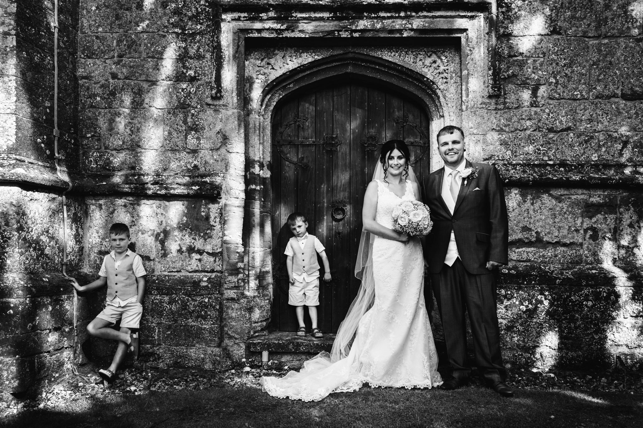 Just married at Whitelackington Church